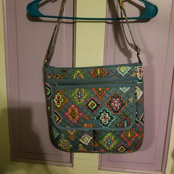 Vera Bradley Women's Signature Cotton Double Zip Mailbag Crossbody Purse,  Rain Forest: Handbags: Amazon.com